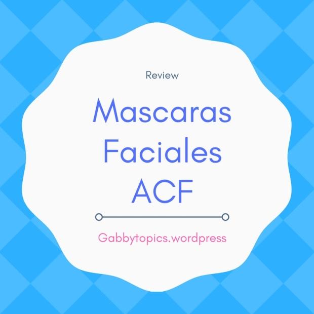 Mascaras Faciales ACF